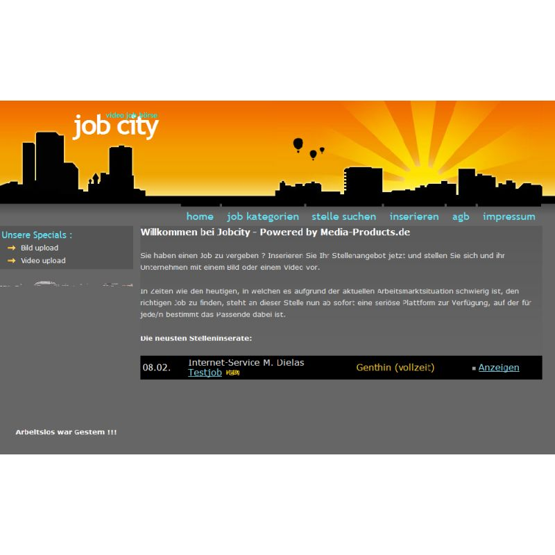 Job City - Stellenmarkt System