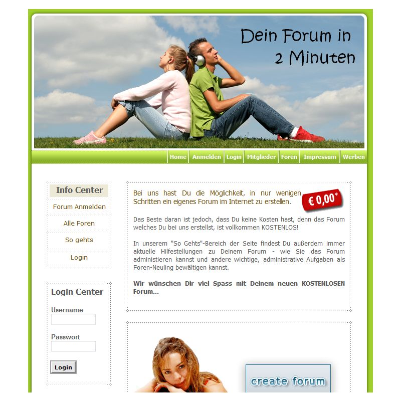 Easy Forum Hoster Service Portal