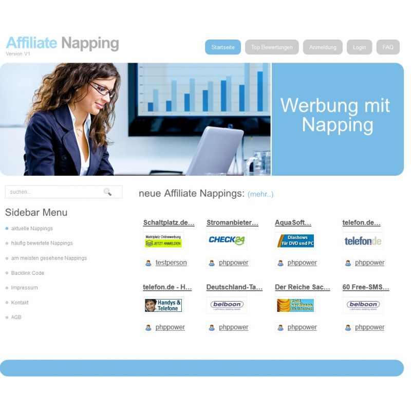 Affiliate Napping System