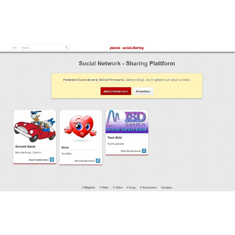 Social Network - Sharing Plattform