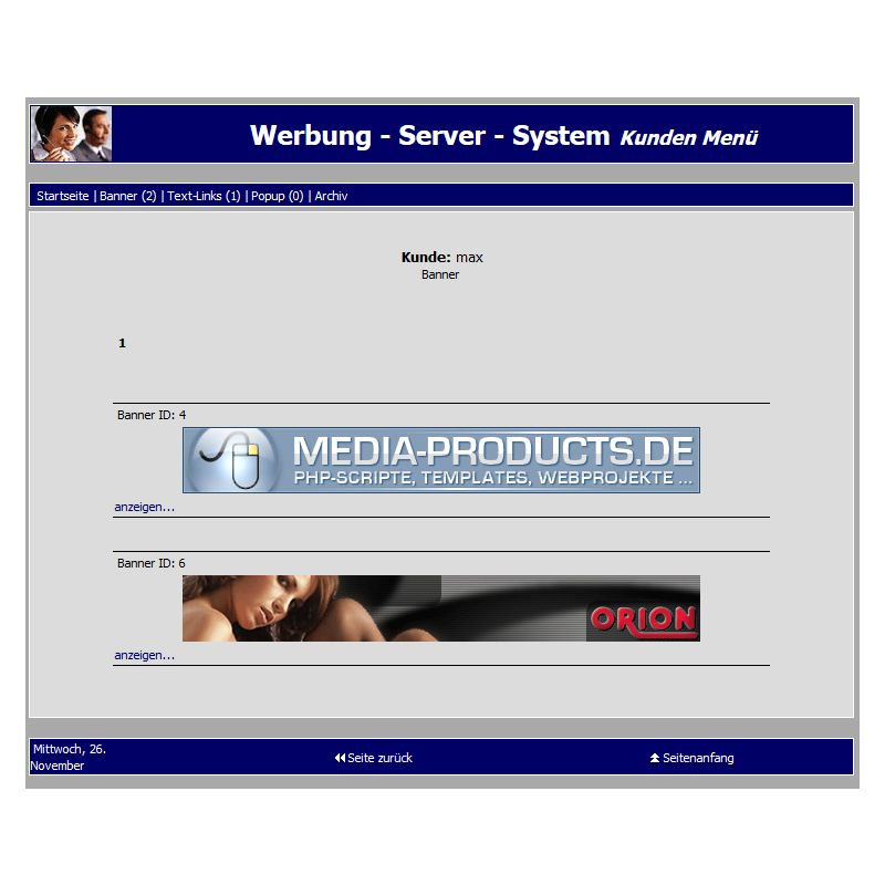 Werbe-Management Adserver